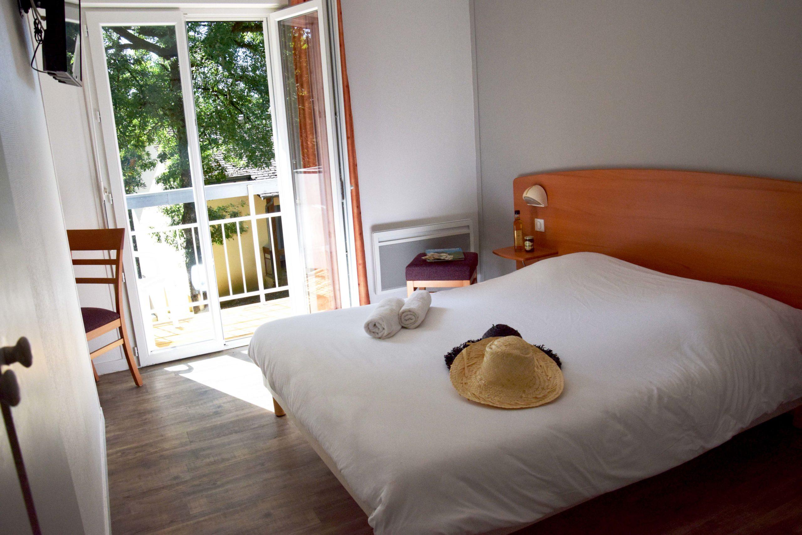 La Gironie, chambre double, vue balcon